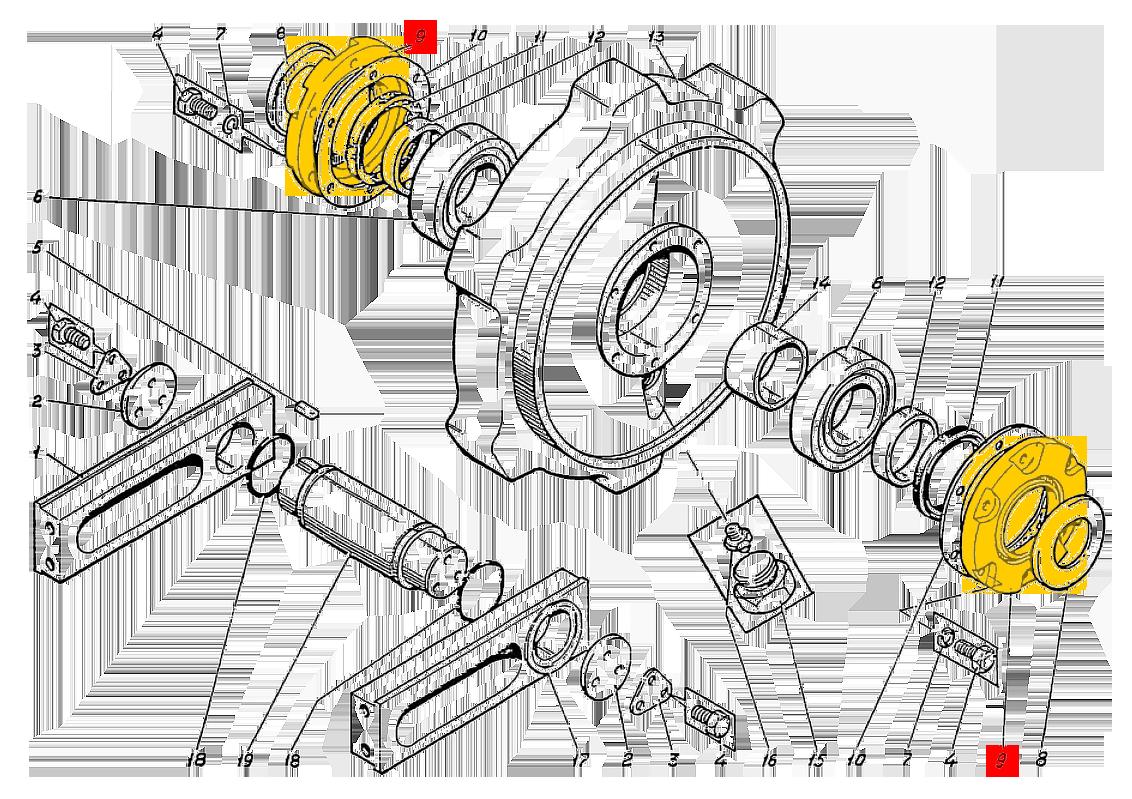 Крышка ЭО-5122.01.10.113-1 натяжного колеса
