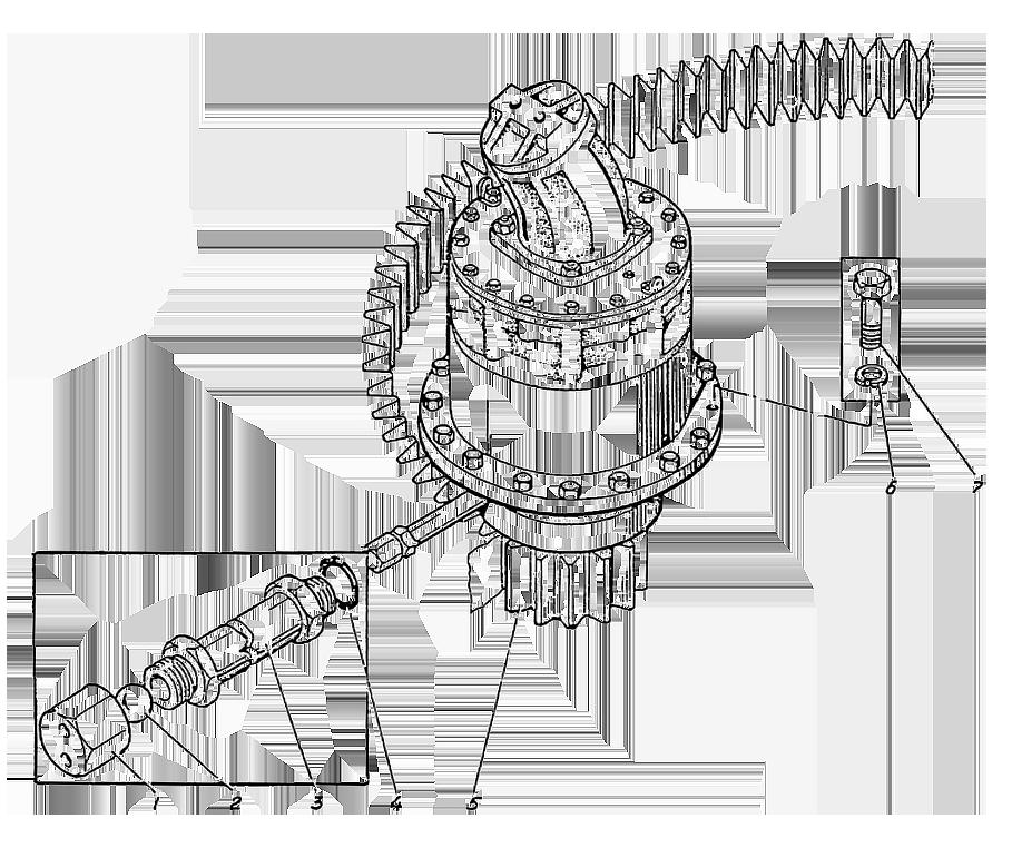 Привод поворота Э4.03.01.500сб