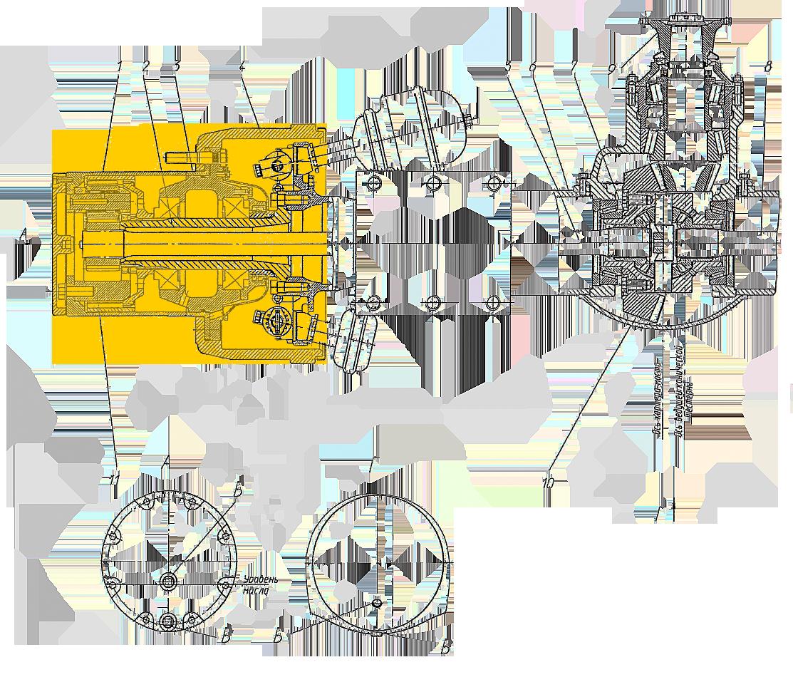 Редуктор бортовой Э20.24.05.080сб