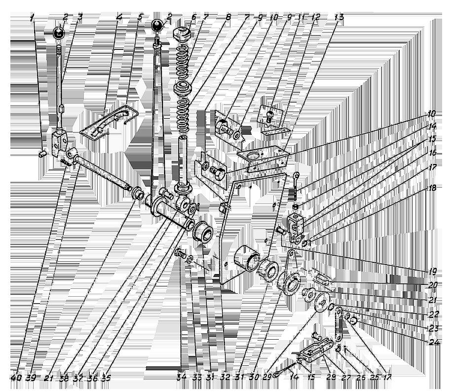 Рычаги управления Э4.04.07.000сб-1