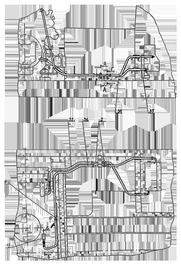 Трубопроводы отопителя Э4.11.28.000сб