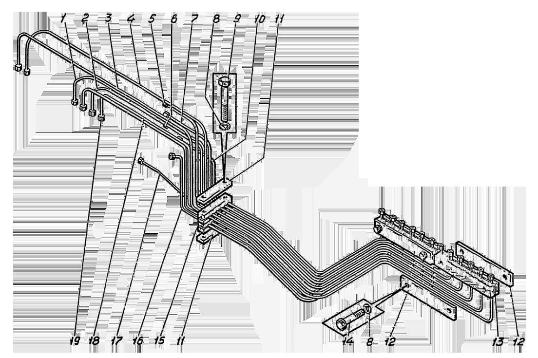 Трубопроводы управления Э4.04.18.000сб
