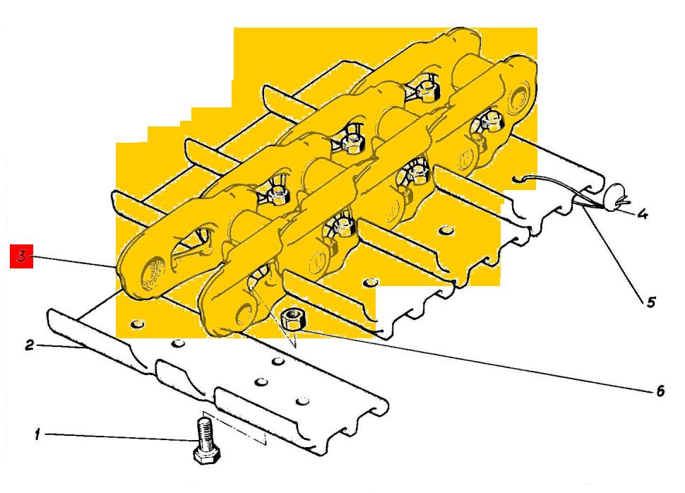 Цепочка гусеницы ЭО-5126