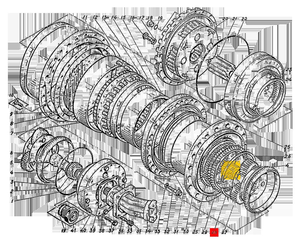Шестерня солнечная Э4.01.17.034