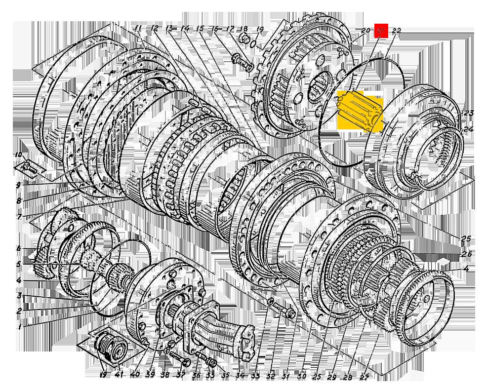 Шестерня солнечная Э4.01.17.035