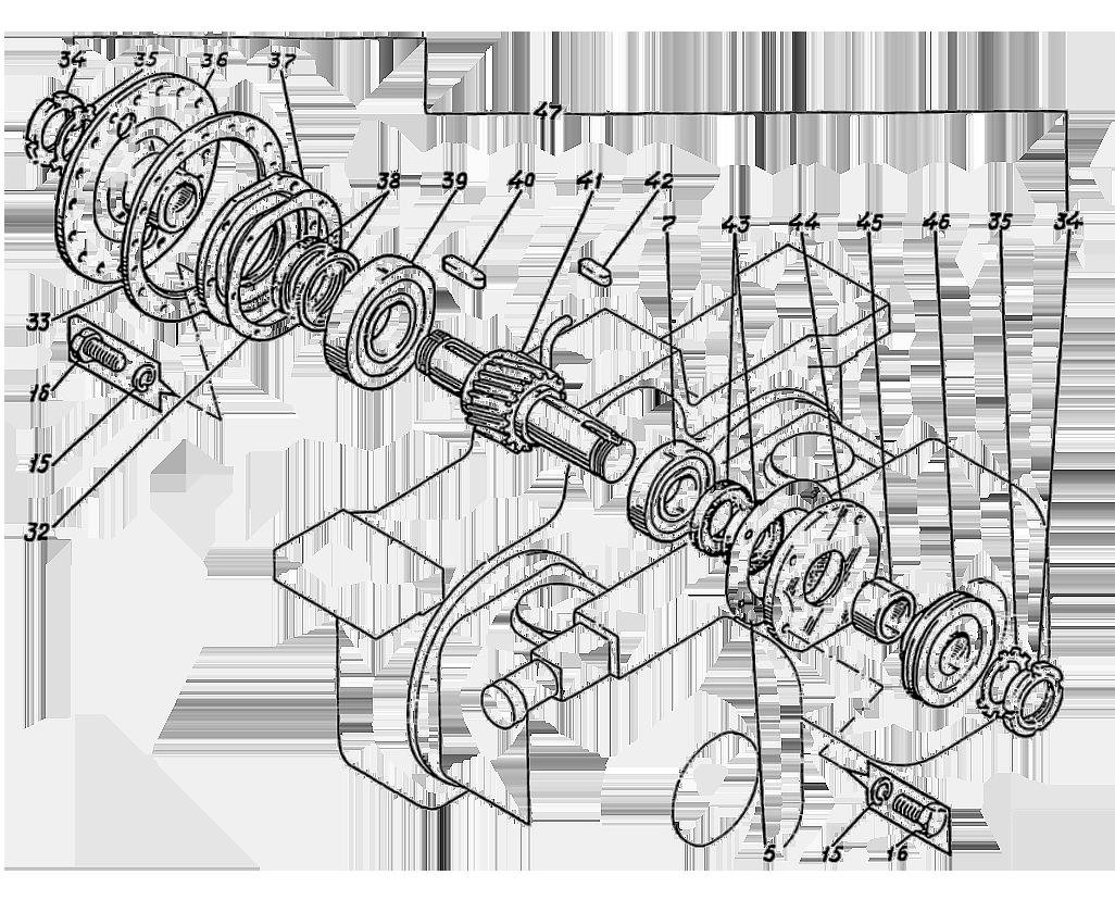 Редуктор раздаточный Э4.11.08.000сб-8